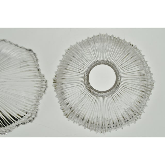 Art Nouveau 1905 Franklin Ribbed Glass Light Shades - a Pair For Sale - Image 9 of 12