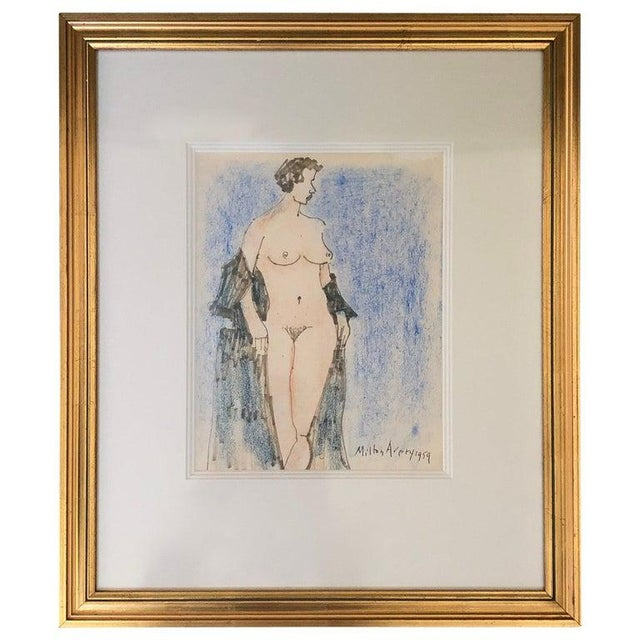 Milton Avery Nude Drawing For Sale - Image 13 of 13