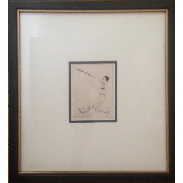 Offering a pair of vintage, original, etchings by renowned tennis star Helen Moody Wills. These pieces were acquired from...
