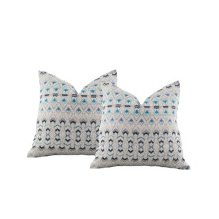 Pindler Ikat Pattern Pillow Covers - A Pair For Sale