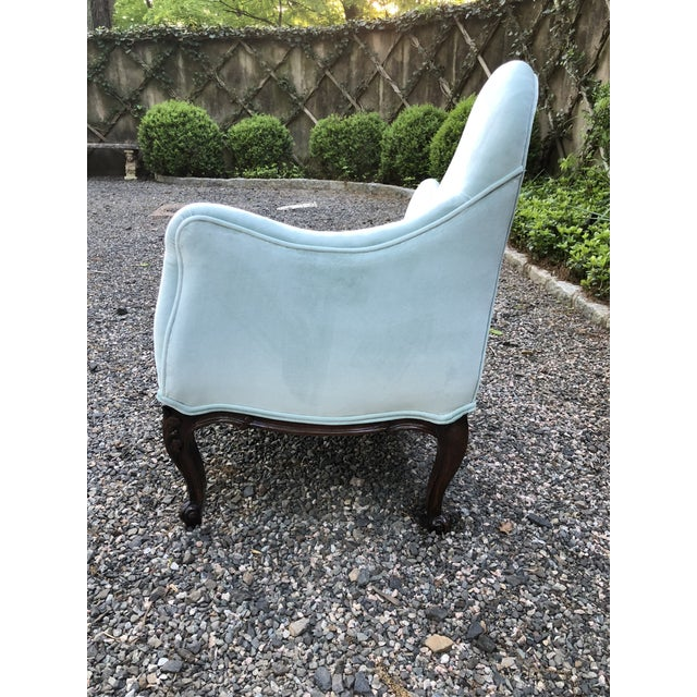 1970s Vintage Tiffany Blue Curvy Settee For Sale In New York - Image 6 of 10