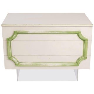 1970s Custom-Made Three-Drawer Chest on Lucite Base For Sale