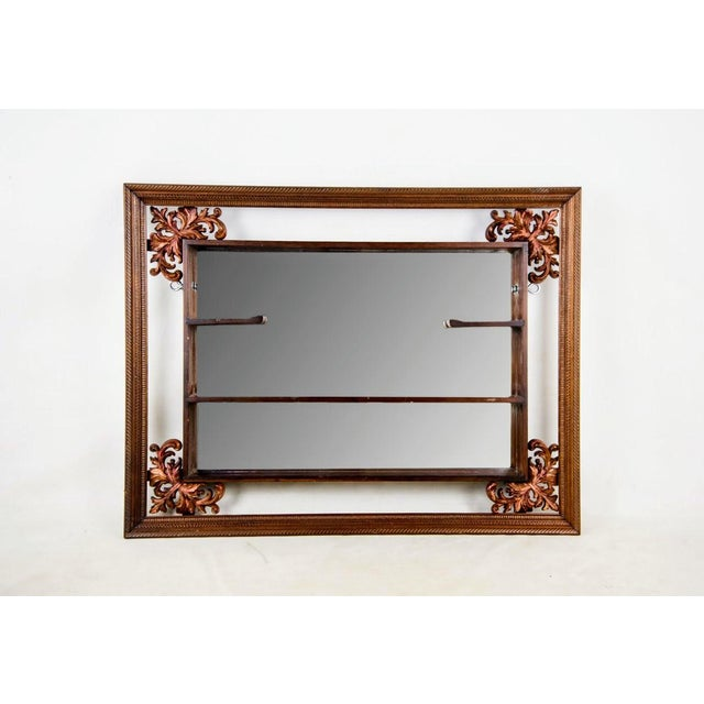 1960s Victorian Mahogany Decorative Wall Mirror With Shelves For Sale - Image 9 of 9