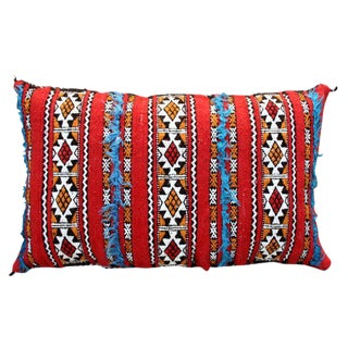 Tattoo-Design & Stripes Moroccan Pillow For Sale