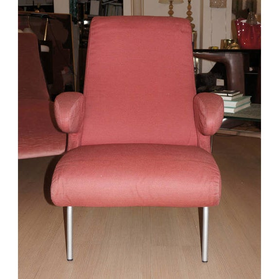"""Mid-Century Modern Carboni for Arflex """"Dolphin"""" Lounge Chair For Sale - Image 3 of 6"""