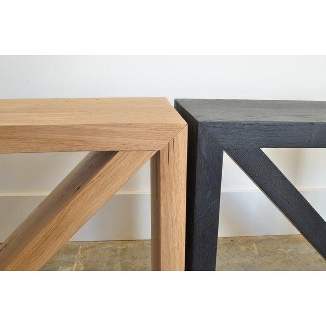 2010s Ozshop Isosceles Side Tables Natural Oak For Sale - Image 5 of 7