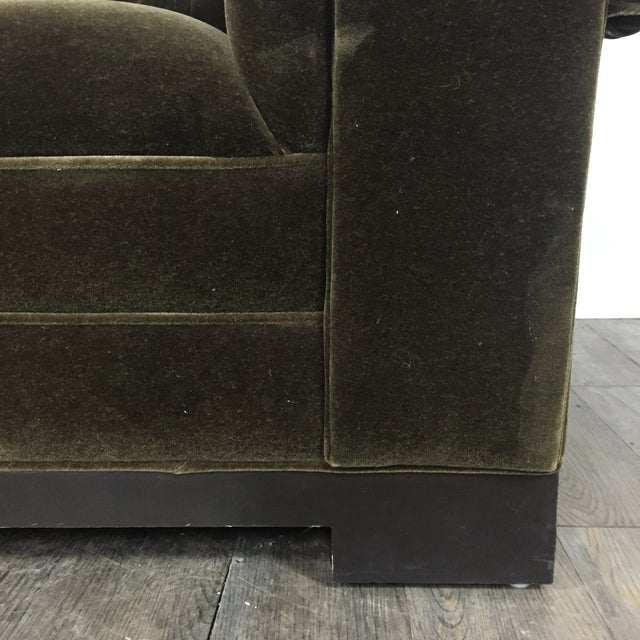 Tufted Green Mohair Sofa - Image 7 of 11