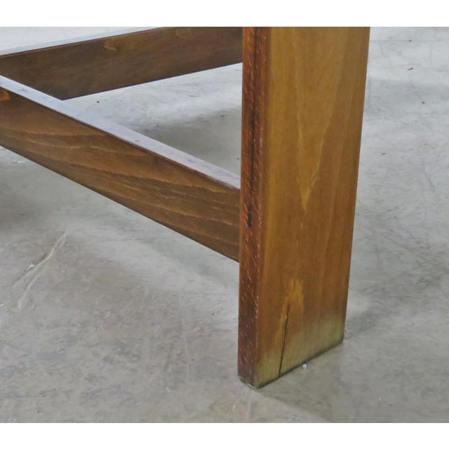 Mid-Century Modern Teak Drop Leaf Table For Sale - Image 4 of 9
