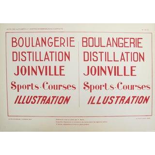 """1920's Original French Typography Poster, Suite Des Alphabets Et Chiffres Modernes (Partie Classique) Pl. N.36 - """"Boulangerie"""""""