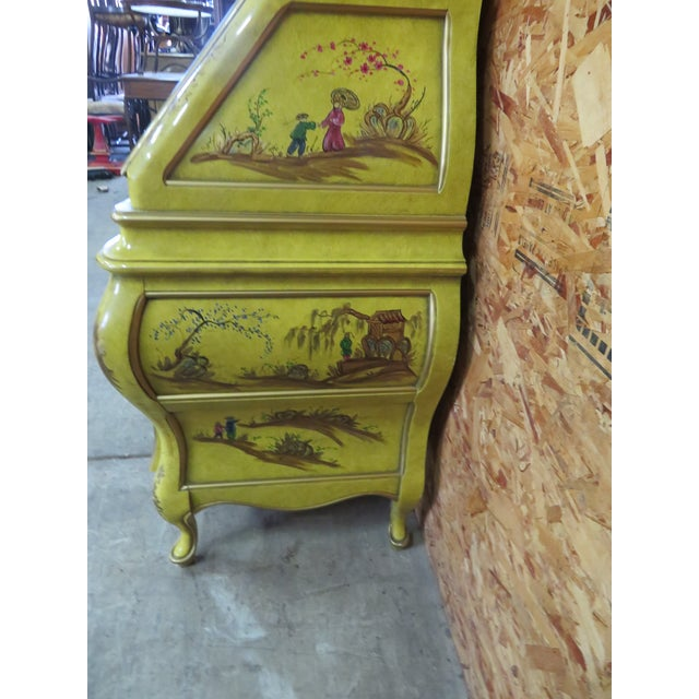 Wood Chinoiserie Bombay Secretary Desk For Sale - Image 7 of 8