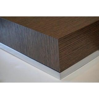 "B&b Italia ""Athos"" Grey Oak & Chrome Extendable 8ft Dining Table Preview"