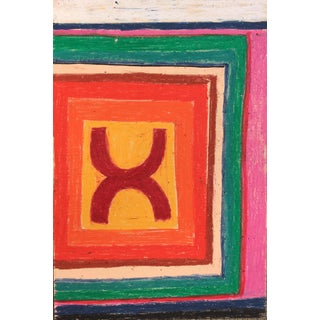 Abstract Oil Pastel on Wood Drawing by Sean Kratzert 'Sound' For Sale