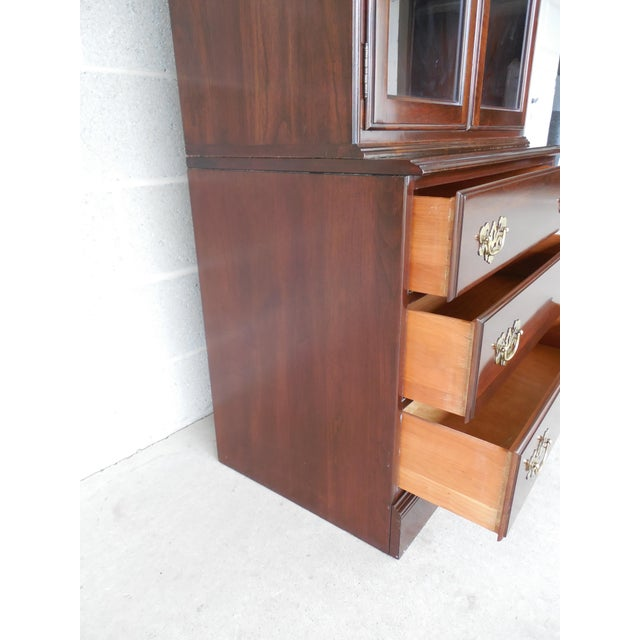 Ethan Allen Georgian Court Bookcase For Sale - Image 5 of 9