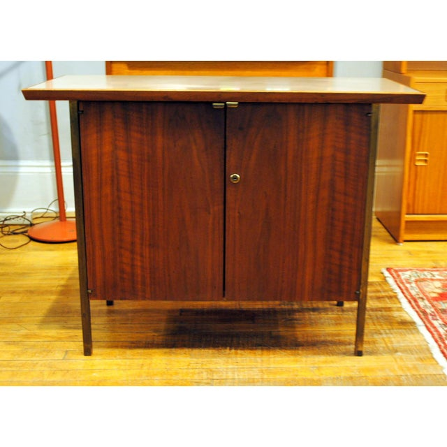 Small Mid-Century Walnut & Brass Bar - Image 2 of 8