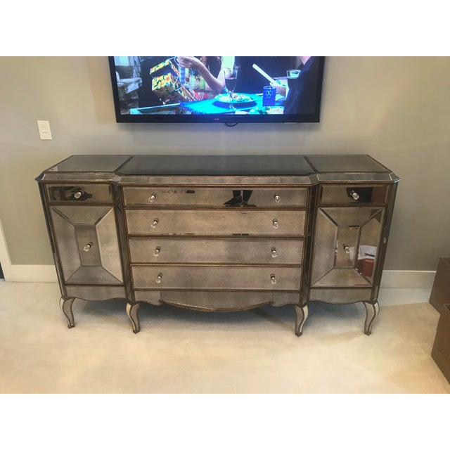 Horchow Jerilynn Mirrored Dresser/Buffet For Sale - Image 4 of 4