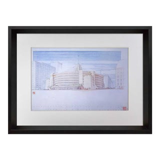 1960s Vintage Frank Lloyd Wright Lithograph Print For Sale