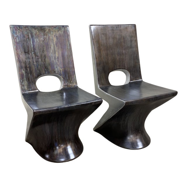 "Phillips Collections ""z"" Dining Chairs - a Pair For Sale"