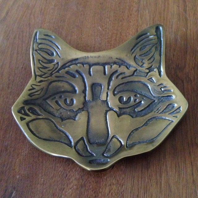 Vintage Brass Fox Catch All Tray - Image 11 of 11