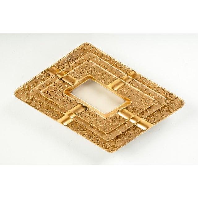 Porcelain Hand Decorated 22-Karat Gold Ashtray Set of 3 For Sale - Image 4 of 6