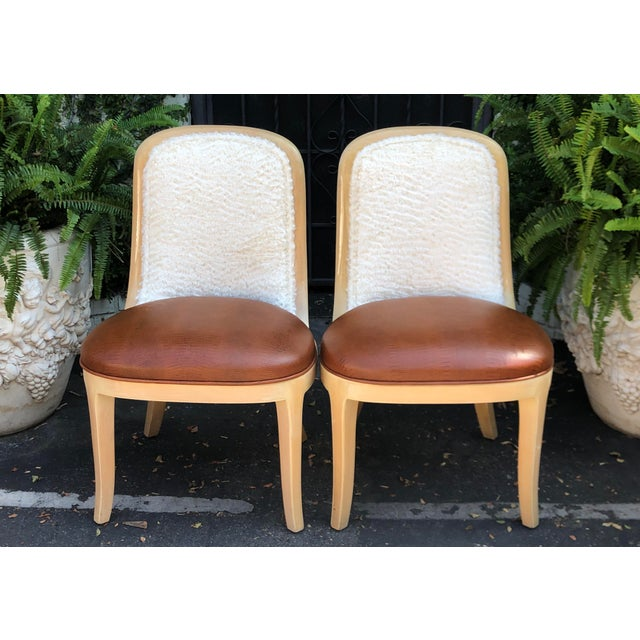 1980s Vintage Signed Donghia Modern Designer Side Chairs - a Pair For Sale - Image 5 of 5