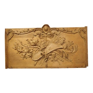Magnificent Bas Relief French Overdoor in Oak, Circa 1750 For Sale