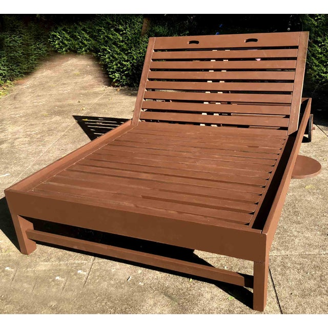 Contemporary Monumental Double Outdoor Pool Lounger For Sale - Image 9 of 10