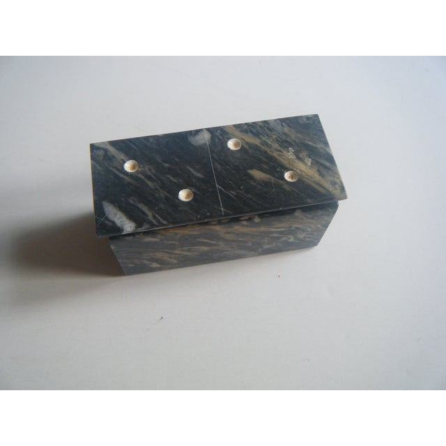 Art Deco Vintage Agate Domino Game Set in Box For Sale - Image 3 of 5