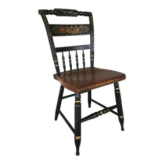 L. Hitchcock Black Harvest Inn Chair For Sale