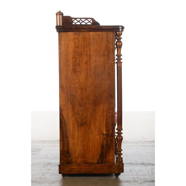 Antique Carved Mahogany Music Cabinet - Image 6 of 10