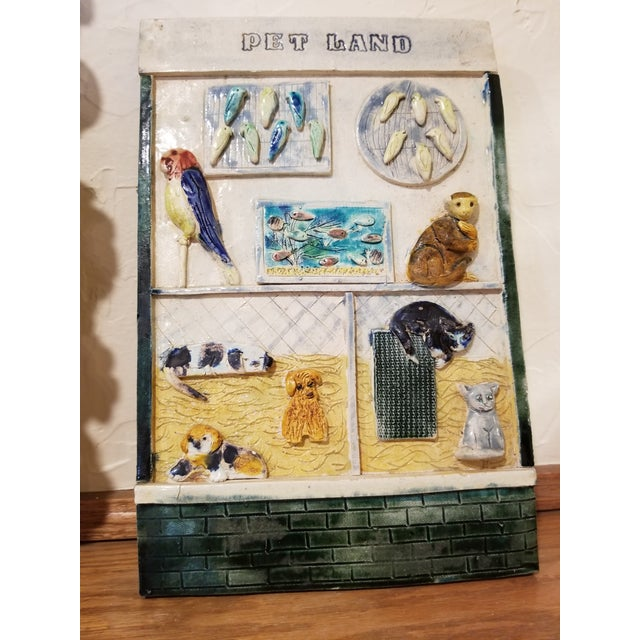 1990s Ceramic Pet Store Theme Wall Plaque For Sale - Image 5 of 12