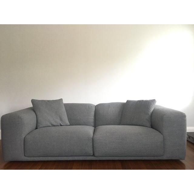 Italian Design Within Reach Grey Kelston Sofa