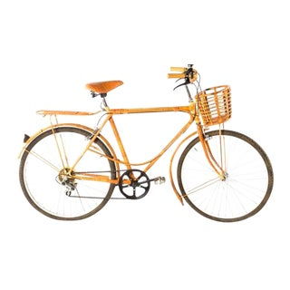 Vintage Bamboo Rattan Bicycle