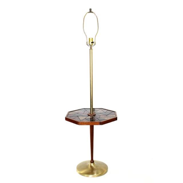 Mid-Century Georges Briard Mosaic Floor Lamp Table - Image 1 of 10