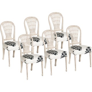 20th Century French Dining Chairs - Set of 6 For Sale