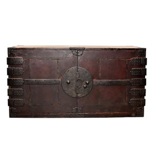 Vintage Japanese Tansu Chest With Full Iron Hardware For Sale