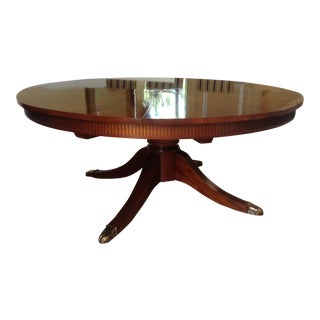 """C1990's Baker Furniture (Stately Homes Coll.) Mahogany English Regency Style """"Capstan"""" Dining Table For Sale"""