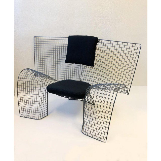 Fabric Memphis Steel Mesh Chair by D'Urbino Lomazzi for Zerodesigno For Sale - Image 7 of 11