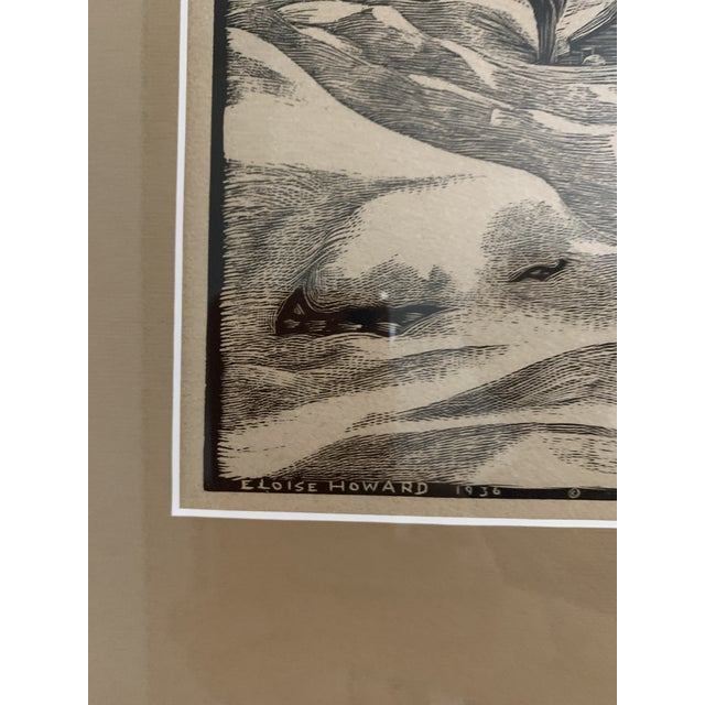 "Woodcut by Eloise Howard ""Opening the Road"" 1936 For Sale - Image 4 of 11"