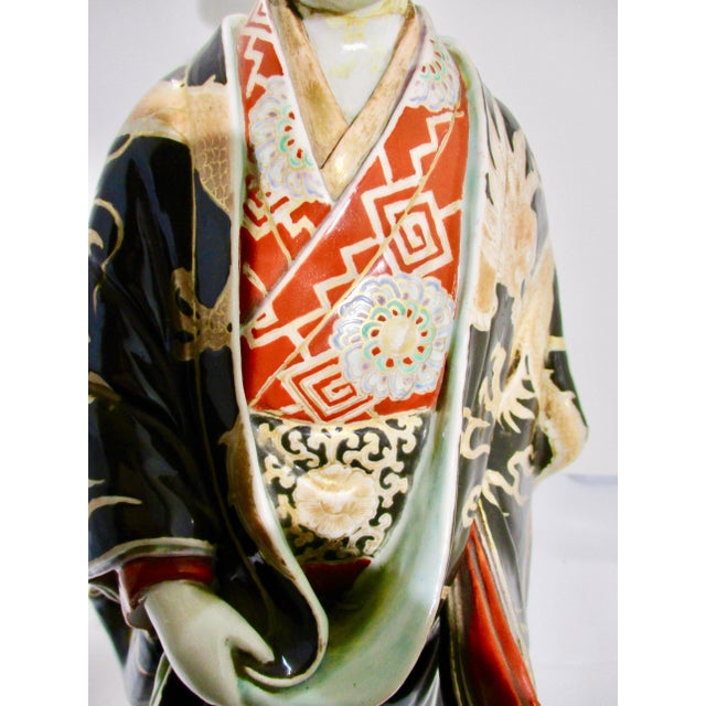 Japanese Kutani Porcelain Geisha Figure For Sale - Image 11 of 12