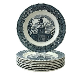 Royal China Ironstone Plates - Set of 8