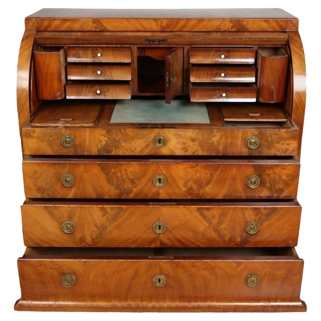 Biedermeier Mahogany Root Secretaire, Circa 1820 For Sale