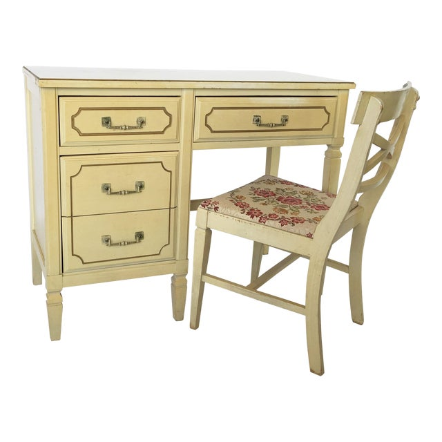 French Regency Writing Desk and Chair For Sale