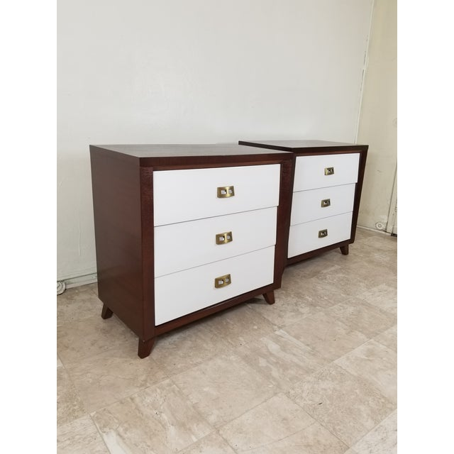 Brass Pair of Modern Chest of Drawers For Sale - Image 7 of 13