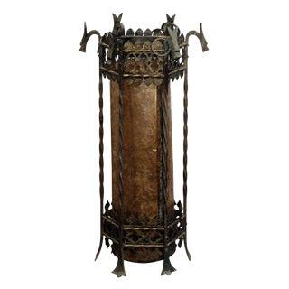 Griffin Motif Bronze Lantern For Sale