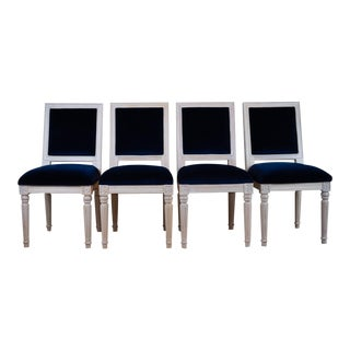 Navy Worlds Away Chairs - Set of 4 For Sale