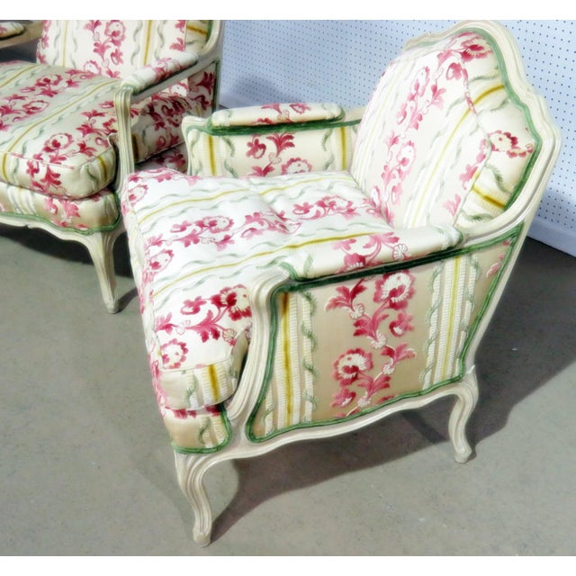 Companion Pair of Louis XV Style Chairs For Sale In Philadelphia - Image 6 of 9