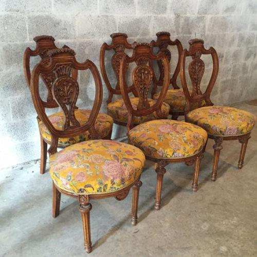 Louis XVI French Dining Chairs - Set of 6 For Sale - Image 4 of 8