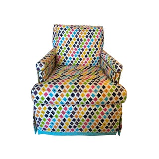 Colorful Skirted Swivel Chair Preview