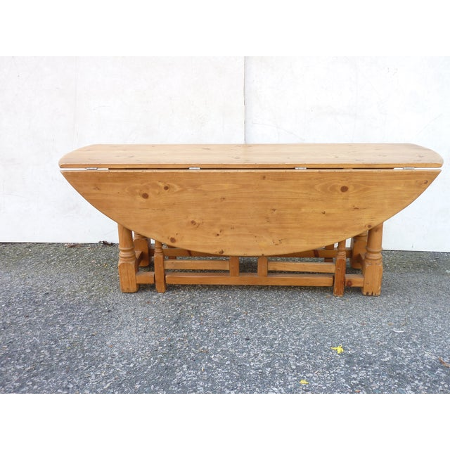 20th Century Scandinavian Pine Drop Leaf Coffee Table For Sale - Image 4 of 7