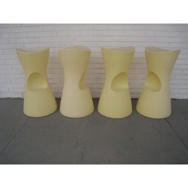 Yellow Skoop Stools by Karim Rashid - Set of 4 For Sale - Image 11 of 11